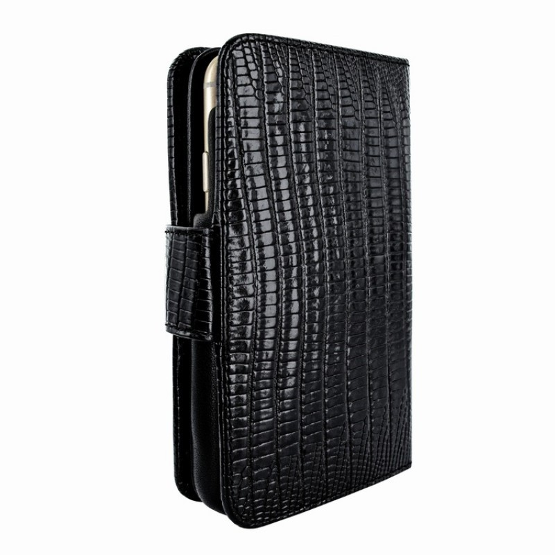 Piel Frama Wallet iPhone 6(S) Lizard zwart