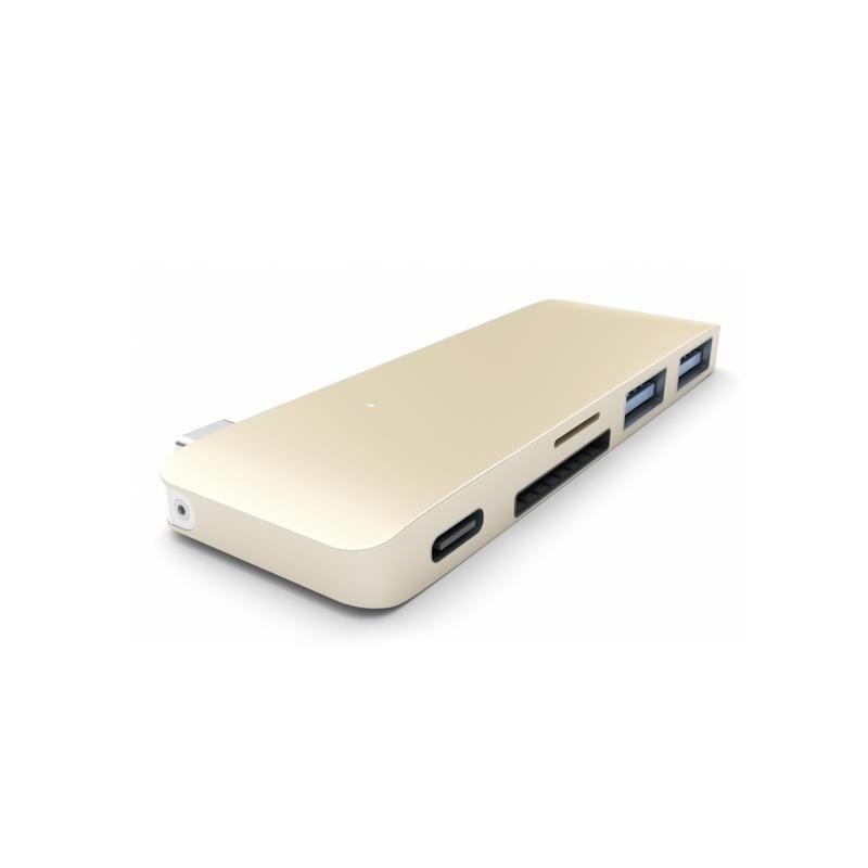Satechi USB-C 3.0 3 in 1 hub goud