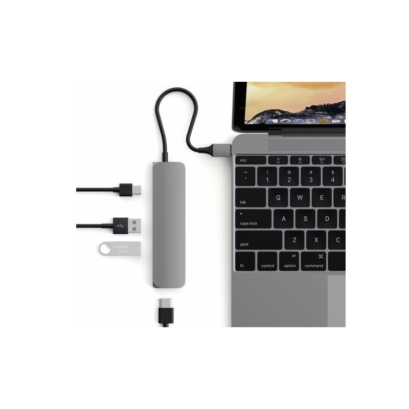 Satechi Type-C USB passthrough HDMI Hub Space grey