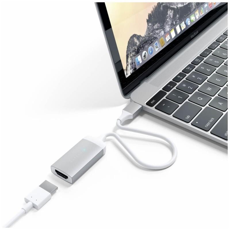 Satechi HDMI naar UBC-C Adapter zilver