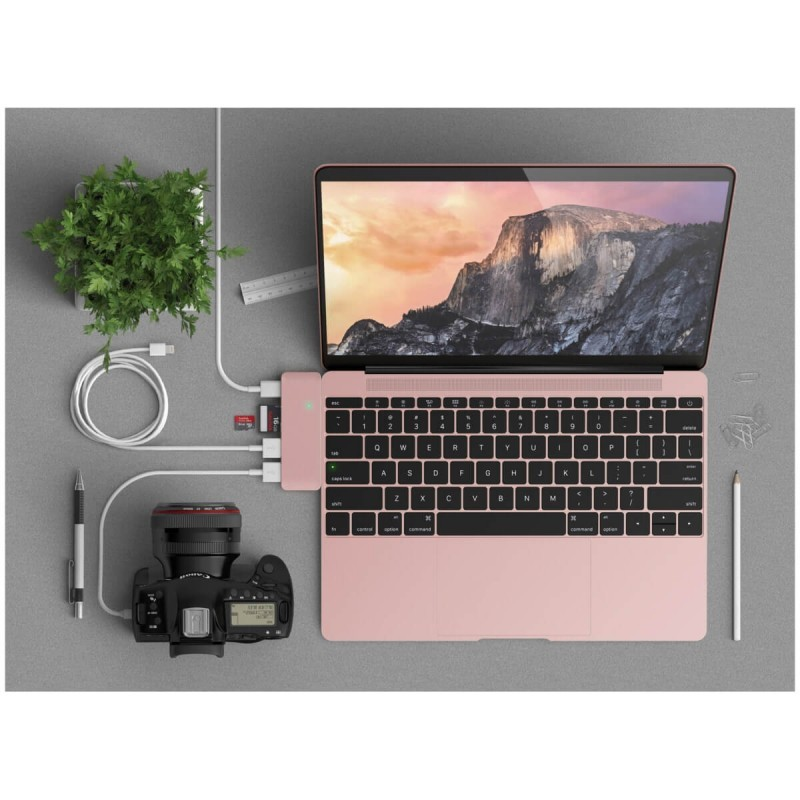 Satechi Type-C USB C 3.0 3 in 1 Hub  Rosé gold