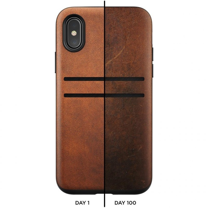 Nomad Wallet Case iPhone X / XS bruin