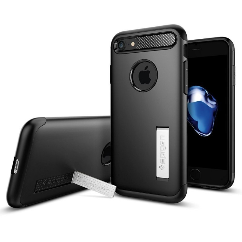 Spigen Slim Armor iPhone 7 zwart