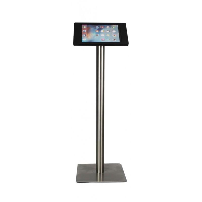 Tablet vloerstandaard Fino iPad Pro zwart RVS