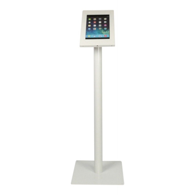 Tablet vloerstandaard Silver iPad 2/3/4 Air en Galaxy Tab wit