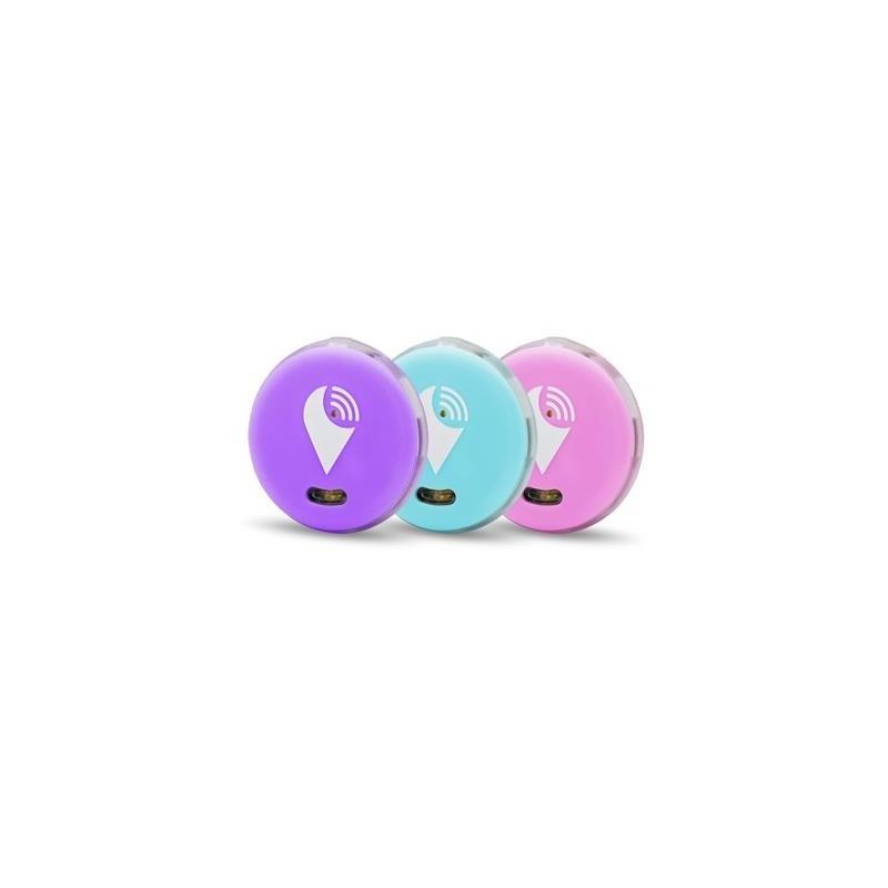 TrackR Pixel 3 Pack lichtblauw/paars/roze engels