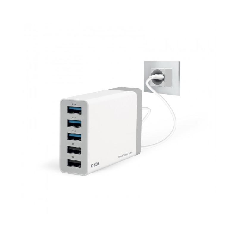 SBS 7000 mA Charging Station met 5 USB poorten