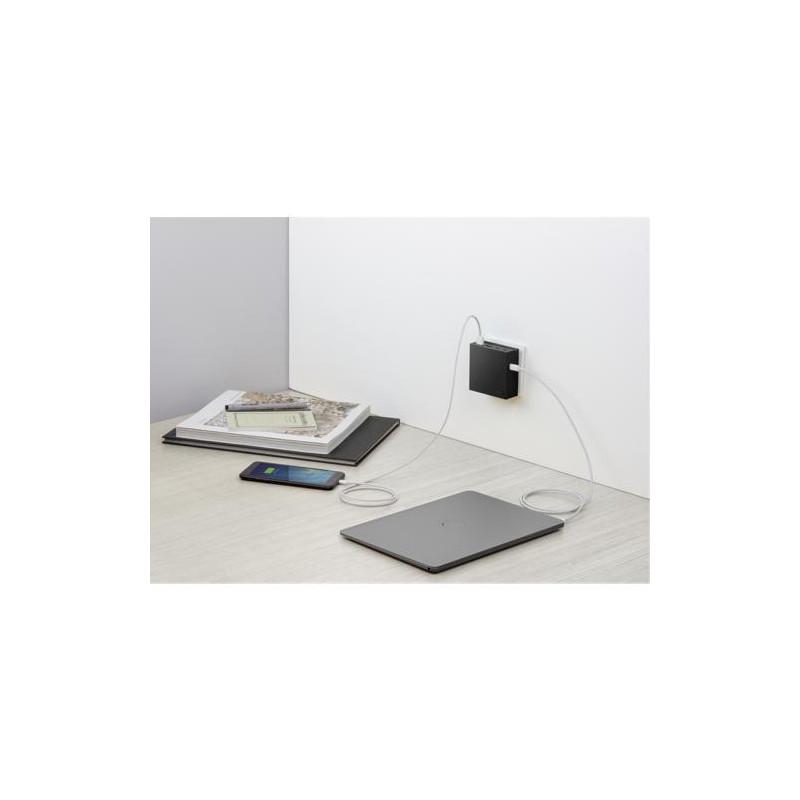 usbepower HIDE PD 57W 5-in-1 wall charger zwart