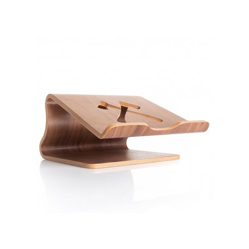 Woodcessories ecolift MacBook stand walnoot