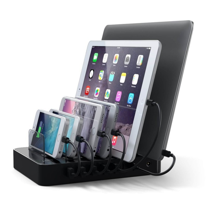 Satechi 7-Port USB Charging Station Dock (2 x Type-C Ports) zwart