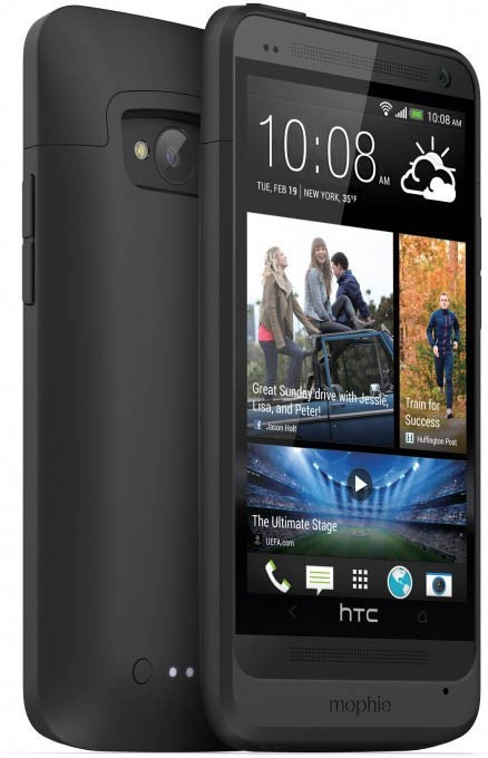Mophie juice pack HTC One M7 zwart