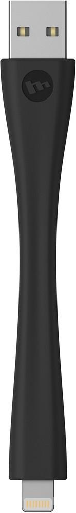 Mophie memory flex Lightning cable 10 cm zwart