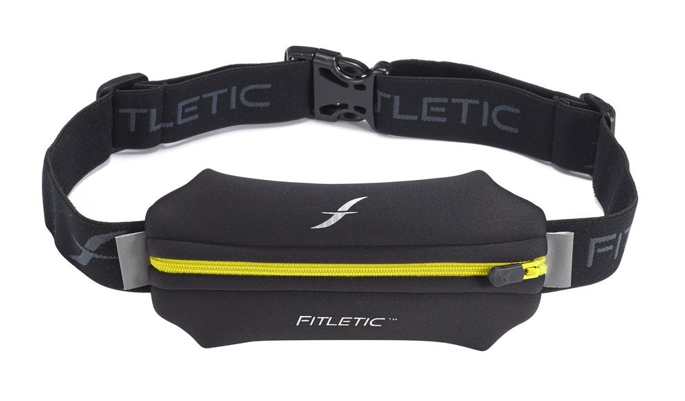 Fitletic Single Pouch Running Belt Black / Yellow