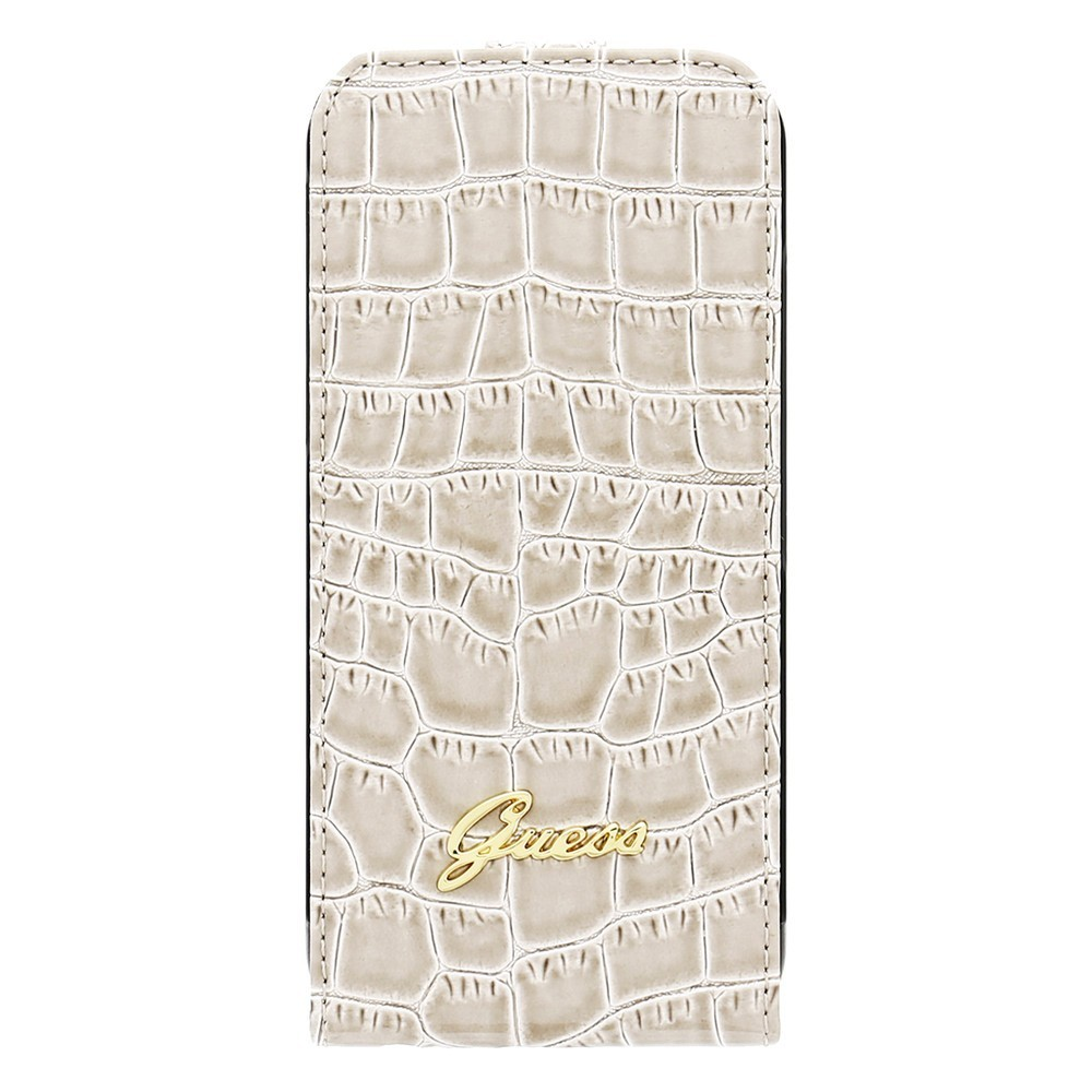 Guess Croco iPhone 6(S) Flip Case beige