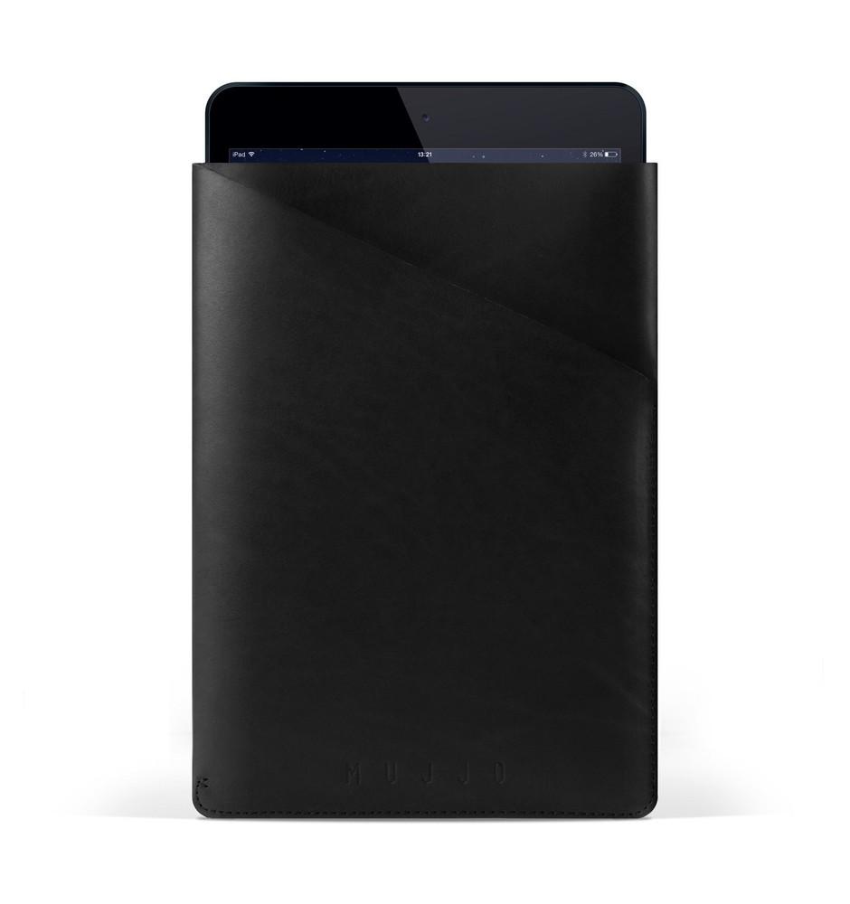 "Mujjo Slim Fit Lederen Sleeve iPad Air 1 / 2 / Pro 9.7"" zwart"