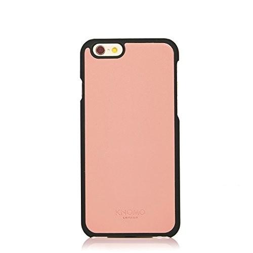 Knomo leren Snap case iPhone 6(S) roze/zwart