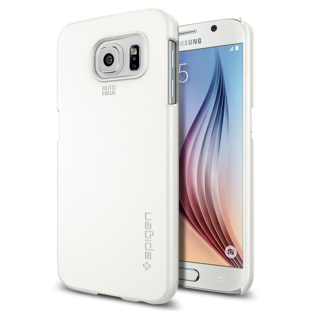 Spigen Thin Fit Galaxy S6 Shimmery White
