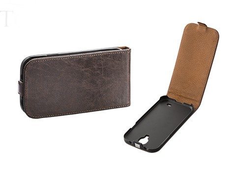 Toscana Galaxy S6 Flip Case Brown