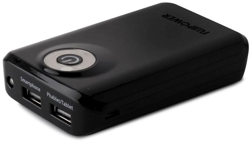 Fujipower Universal Powerbank 6600 mAh 1A Black