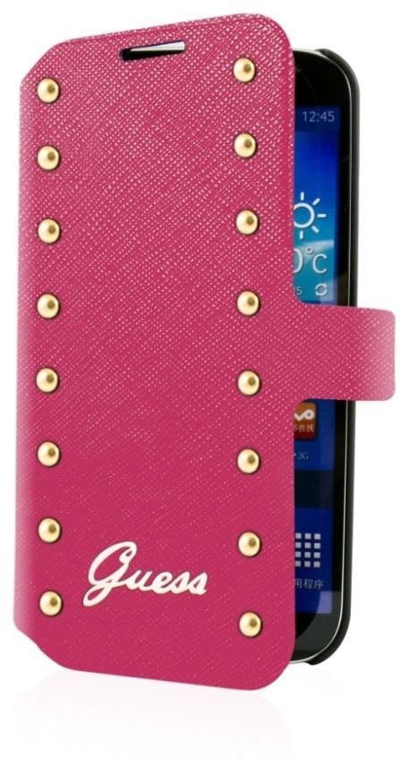 Guess Studded Galaxy S5 Folio Case Pink