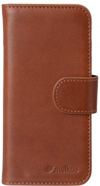 Melkco Alphard iPhone 5 / 5S Book Case Leather Orange Brown