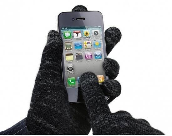 Avanca Touchscreen Handschoenen Grijs/Zwart