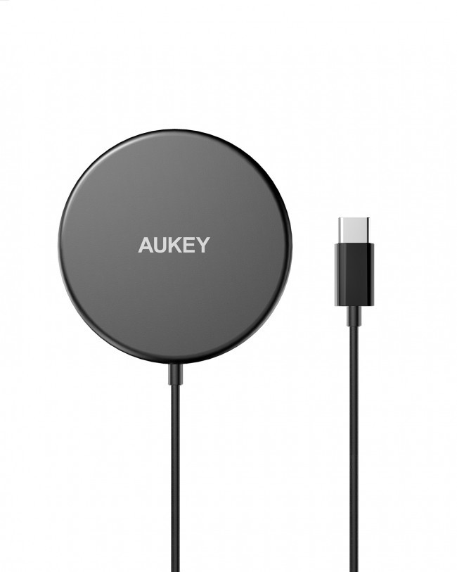 Aukey Aircore Magnetic Qi Wireless Charger 15W zwart