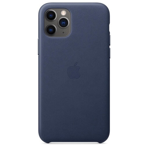Apple leather case iPhone 11 Pro Midnight Blue