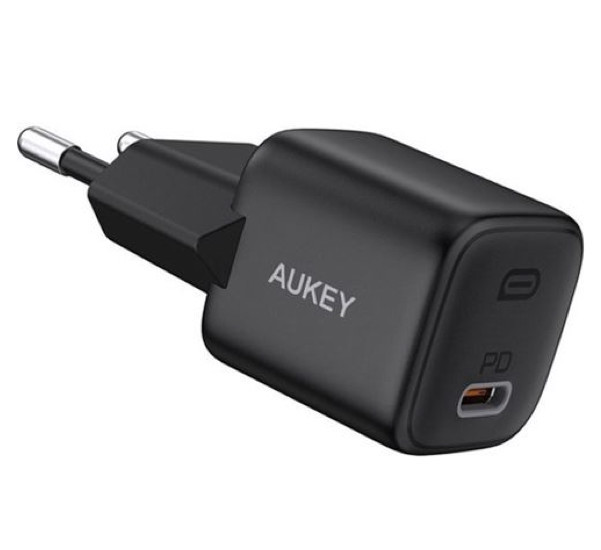Aukey USB C Power Delivery Mini Charger 20W zwart
