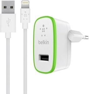Belkin BOOST UP Thuislader 2.4A met vaste Lightning oplaadkabel 1.2m wit