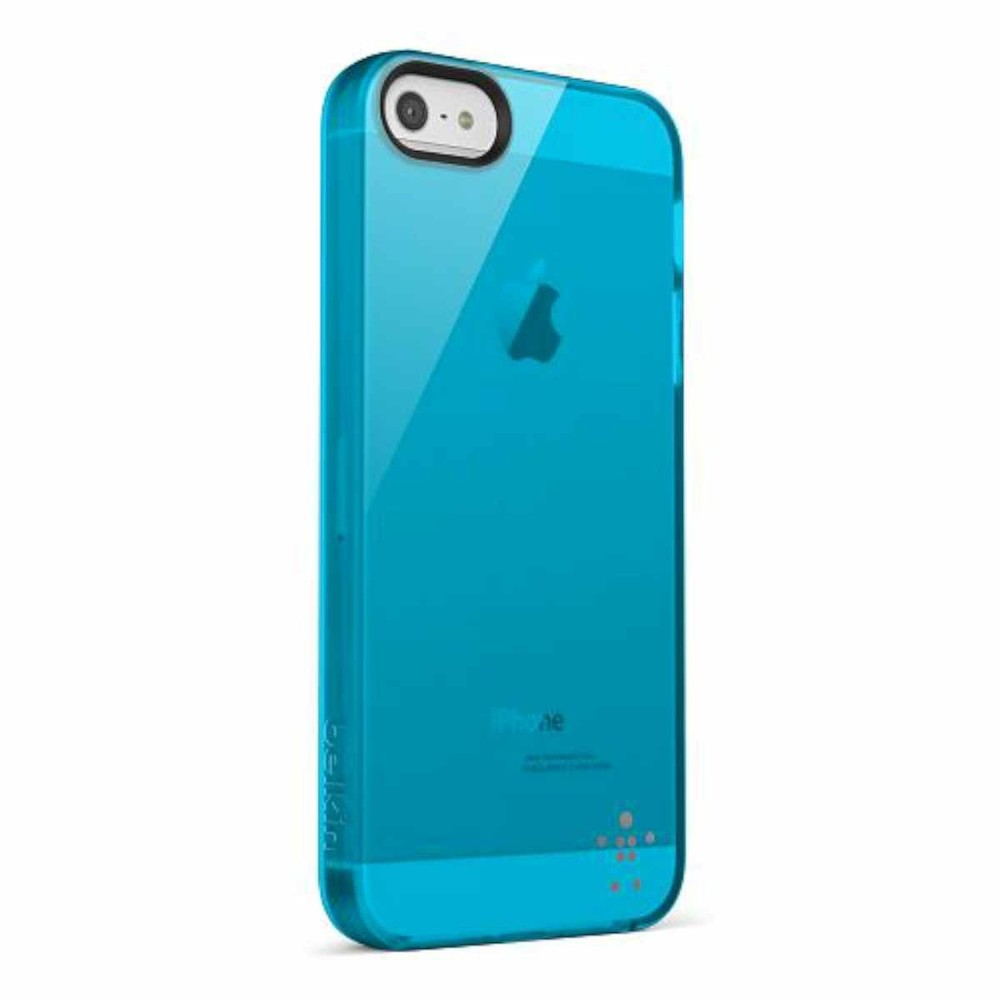 Belkin Grip Sheer transparant iPhone 5(S)/SE blauw
