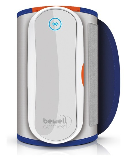 Bewell Connect - MyTensio zilver/blauw