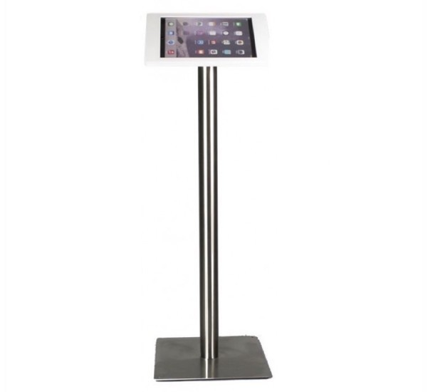 Tablet Vloerstandaard Fino iPad 9.7 inch wit/chroomstaal