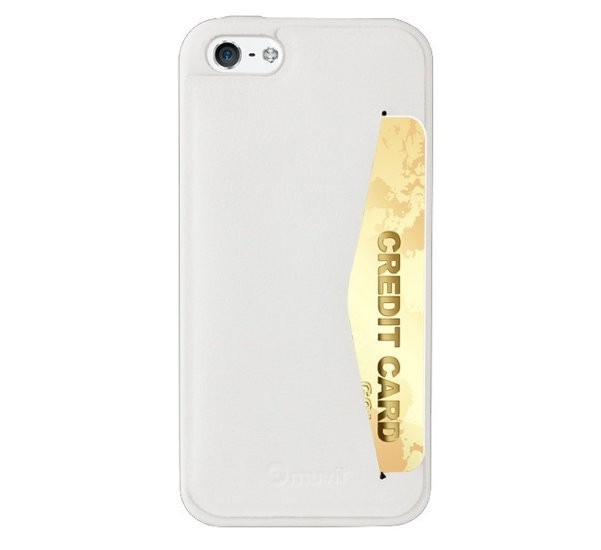 Muvit Leatherette Back Case iPhone 5(S) wit