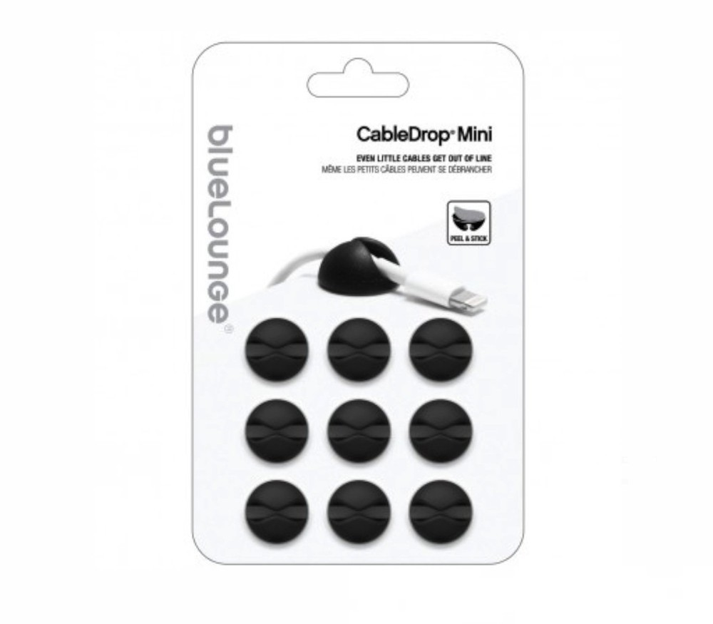 Bluelounge CableDrop Mini 9-pack zwart
