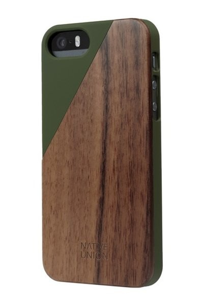 Native Union Clic Wooden iPhone 5(S)/SE Olive