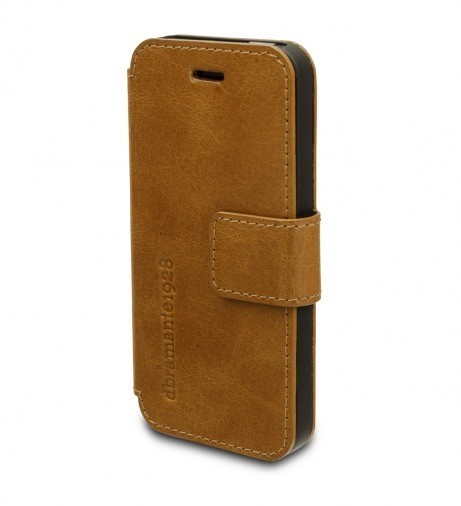 dbramante1928 leren wallet folio case iPhone 5(S)/SE golden tan