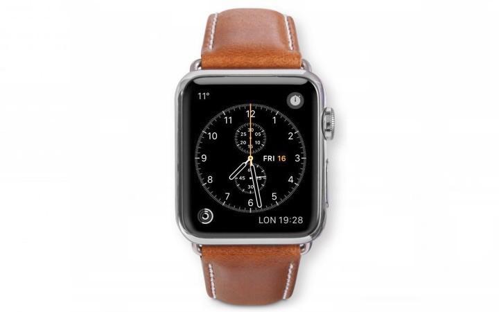 dbramante1928 Copenhagen Apple Watch bandje 38mm grijs/bruin