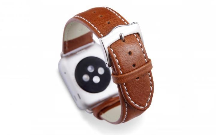 dbramante1928 Copenhagen Apple Watch bandje 42mm zilver/bruin