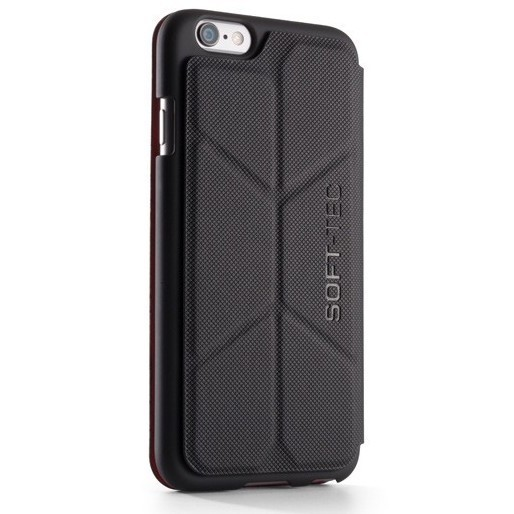 Element Case Soft-Tec Wallet iPhone 6(S) zwart/rood