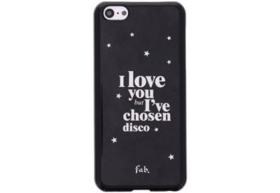Fab disco glitter hard case iPhone 5C zwart