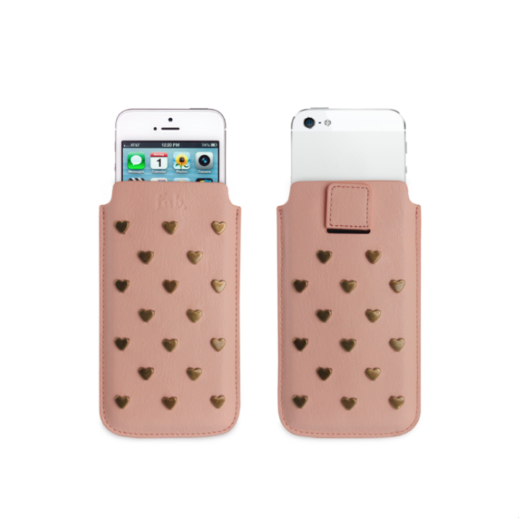 Fab Studs pouch case M iPhone roze