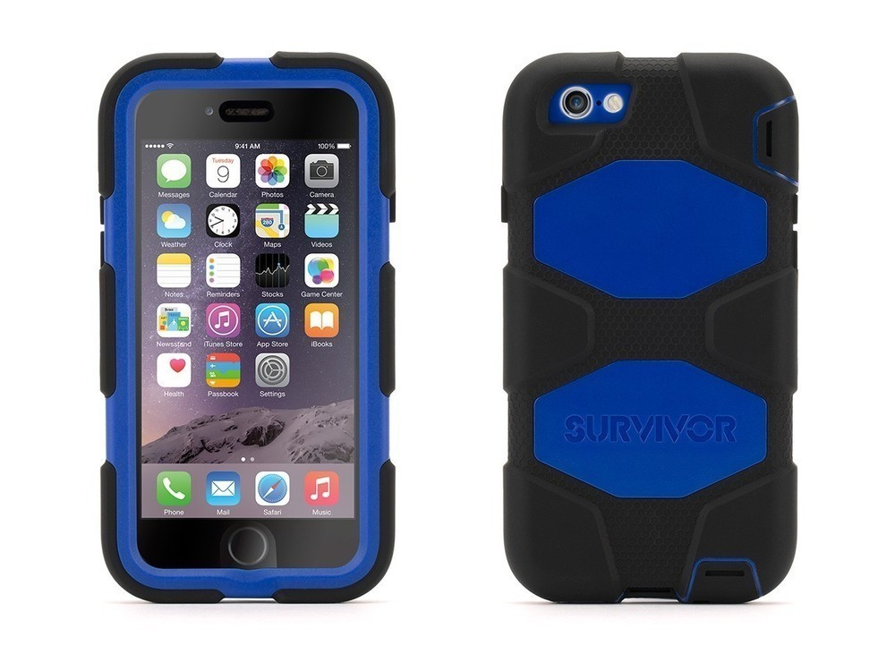 Griffin Survivor All-Terrain hardcase iPhone 6(S) blauw/zwart
