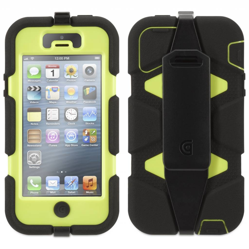 Griffin Survivor All-Terrain hardcase iPhone 5(S)/SE zwart/groen