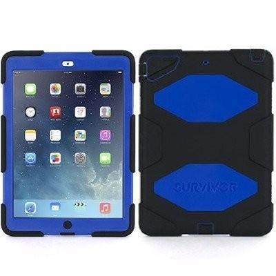 Griffin Survivor hardcase iPad Air 1 blauw-zwart