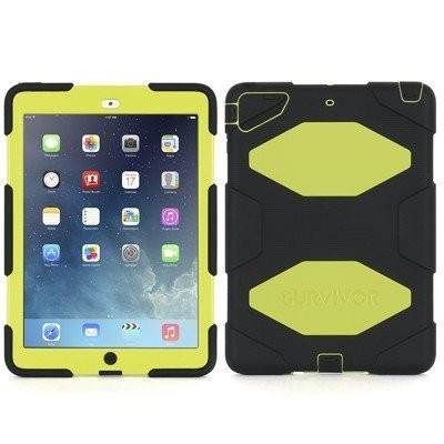 Griffin Survivor All-Terrain hardcase iPad Air 1 geel-zwart