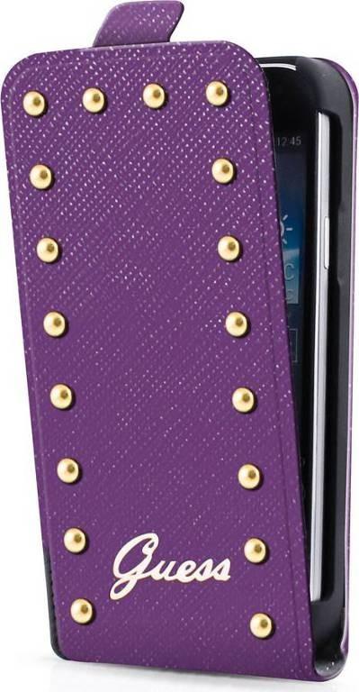 Studded iPhone 5C Flip Case Purple