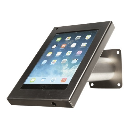 Tablet muur- en tafelstandaard Securo iPad en Galaxy Tab RVS