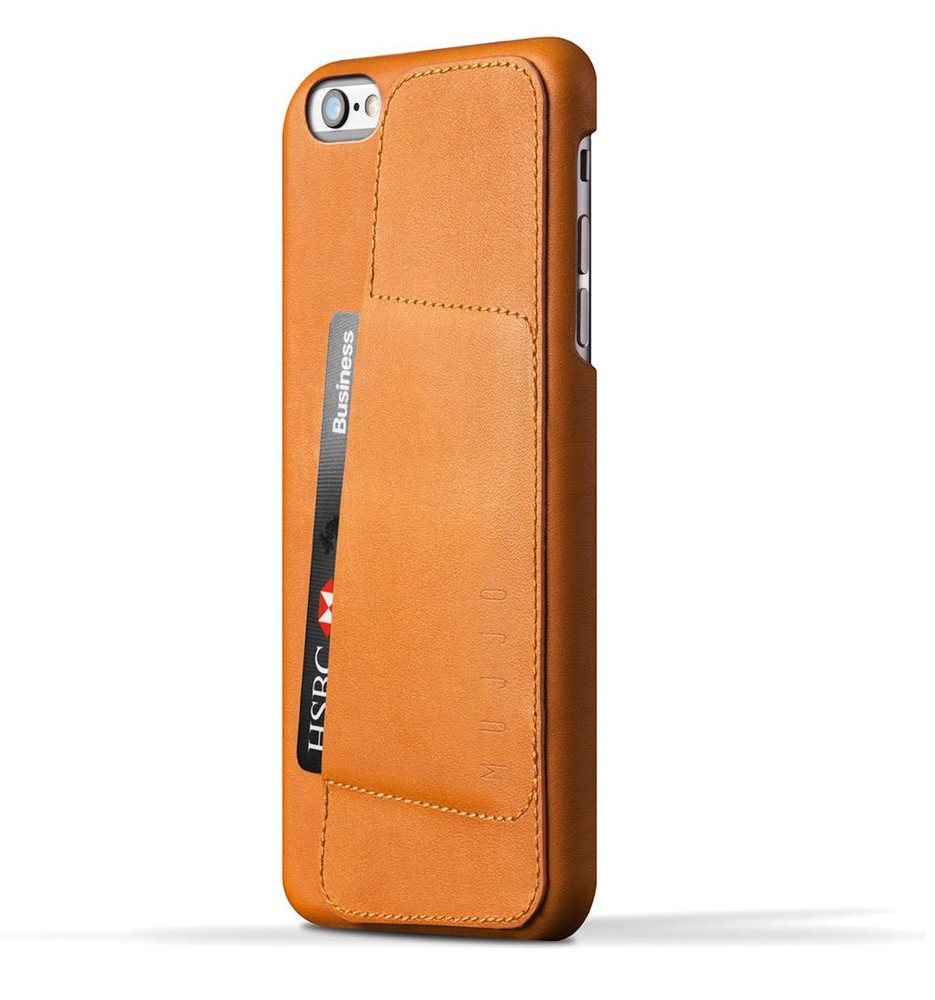 Mujjo wallet leren case 80 iPhone 6(S) Plus bruin