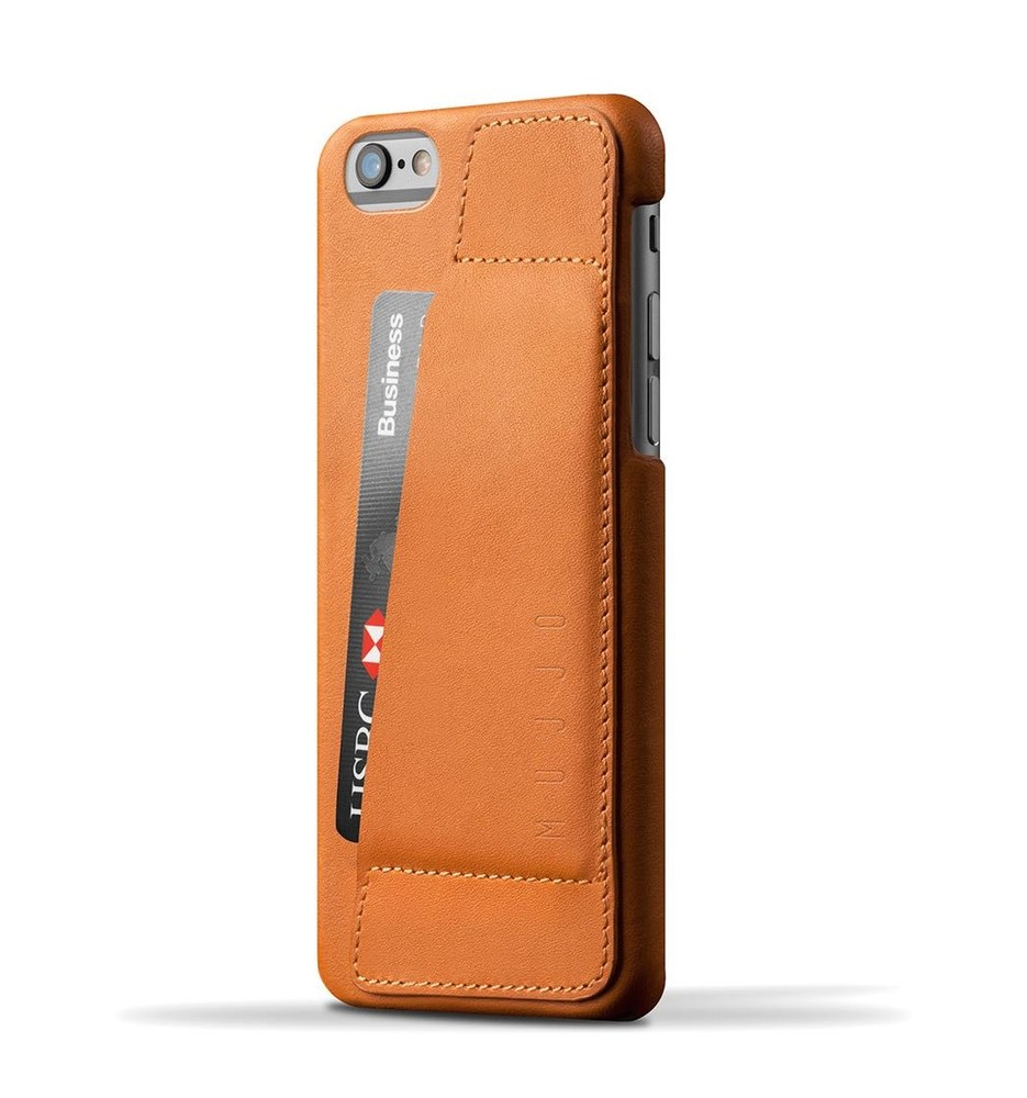Mujjo wallet leren case 80 iPhone 6(S) bruin